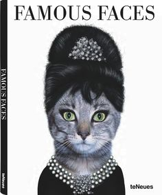 """Say what you will about these masquerading animals, just don't tell me they didn't make you laugh! teNeues publishing group recently released two books that will have you giggling with glee. Called Famous Faces, the bigger hardcover version and smaller pop-culture book are based on a successful line of greeting cards. (If you can't get enough of these, check out the cards.)  """"Through the magic of make-believe a cute puppy morphs into the ultimate diva. And wait, what about the hamster who…"""