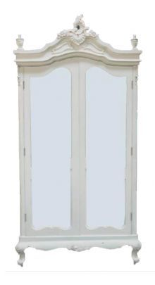 Incroyable Antique French White Armoire Wardrobe