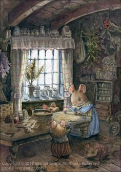 New Baking Illustration Pictures Ideas Beatrix Potter, Vogel Gif, Lapin Art, Susan Wheeler, Theme Noel, Fairytale Art, Woodland Creatures, Fairy Art, Children's Book Illustration