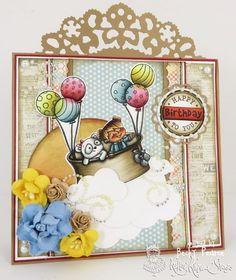 Kraftin' Kimmie Stamps KKS Wild About You Panda Bear Animal Everyday Trinket Sentiment Stamp Birthday Card Craft My Favorite Things MFT Magnolia Tim Holtz Die www.CardsByBecky.blogspot.com