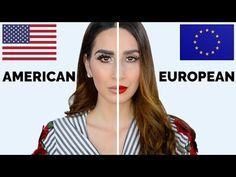 American VS European Makeup Tutorial - US Makeup Trends Makeup Vs No Makeup, Hair And Makeup Tips, Girls Makeup, Beauty Makeup, Hair Makeup, Makeup Ideas, Alice Cooper, Angelina Jolie Makeup, French Makeup
