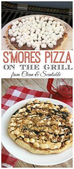 S'mores Pizza - Done up on the grill and perfect for backyard campouts or summer parties!