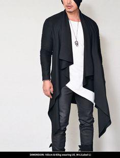 Edge Ruffle Long Jacket-Coat 115 - GUYLOOK