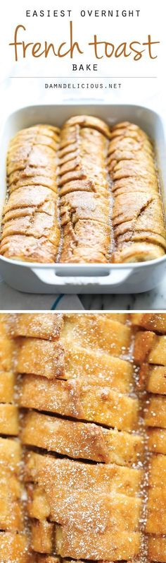 Easiest Overnight French Toast Bake - You can easily prep this the night before in only 10 min. Then just pop it in the oven right before serving. So easy! #pancakes,#pancakes_easy#pancakes_for_one#pancakes_healthy,#pancakes_and_pajamas#panacakes_yum!#panacakes,#waffles,#french_toast