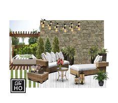 Patio Garden design service. Outdoor designer virtual by DeHo