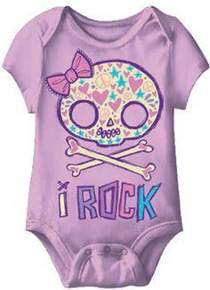 I Rock Skull Girl Baby Romper for when dani & sean have babies