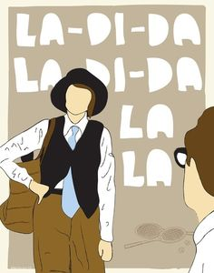 La Di Da print from MikeOncley on Etsy. Has a whole Annie Hall print series. Deeply love.