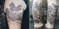 tatuajes brazo de bosque