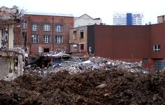 Rubble and mud