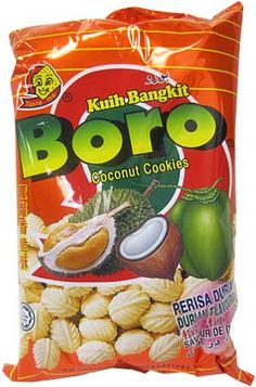 Sun Hing Foods: Boro Durian Flavored Coconut Cookies 110g  DURIAN COOKIES YUM!