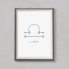 Libra Symbol Print, Horoscope Print, Home decor,Printable Wall Art Gift, Astrology Print, Libra Zodiac, Calligraphy, Astrology Art