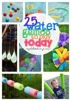25 water games to play today - this is the perfect summer list! Water Play Activities, Water Games For Kids, Craft Activities, Indoor Activities, Family Activities, Kids Water Party, Activity Games, Fun Games, Games To Play