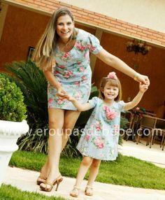 vestido floral mãe e filha verão
