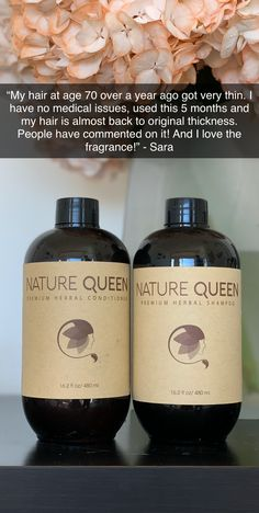 My hair at age 70 over a year ago got very thin. I have no medical issues, used this for 5 months and my hair is almost back to original thickness. People have commented on it! And I love the fragrance! Natural Hair Care, Natural Hair Styles, Natural Shampoo, Natural Beauty, Hair Cute, Hair Care Recipes, Hair Loss Shampoo, Hair Remedies, Tips Belleza
