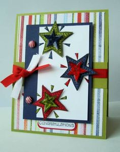 Congratulations! using Stampin Up Fun & Fast Notes