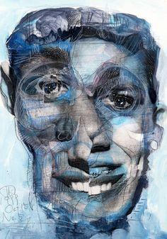 "Saatchi Online Artist: Takahiro Kimura; Assemblage / Collage, 1999, Mixed Media ""BROKEN1000FACES 005"""