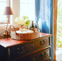 Our #navy blue breeze linen creates the foil for antique treasures and simple, functional storage options. All of which, add to the appeal of this #nautically inspired room by Interior Designer, Scot Meacham Wood. Find these treasures and more fabulous products in our #adornoshop http://www.adornomag.com/Products #scotmeachamwood #interiordesign #nautical #captainsquarters #interiortreasures