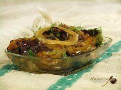 Маринованные баклажаны с базиликом