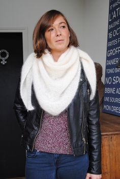 Trendy châle By La souris / lien vers tuto, uto video et site de laine