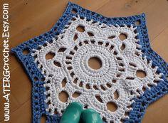 Crochet pattern STAR RUG by ATERGcrochet XL by ATERGcrochet