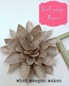 Who else wants this bookpage flower? It's easy to make!