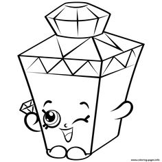 Limited Edition Gemma Gem To Colour Shopkins Season 4 Coloring Pages Printable And Book Print For Free Find More Online Kids