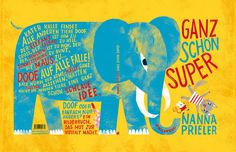 """Finally!!! I'm VERY happy to announce that my new book titled """"Ganz  schön super / Pretty awesome"""" is now available in German language. It's a  book about tolerance and loving our little faults. AND: Every single  letter is handmade!"""