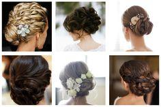 6 coiffures classiques de mariées, cheveux remontés