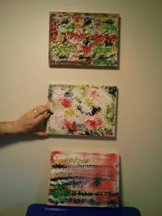 """""""3 scenes out the window"""" oil on canvas unframed $120"""