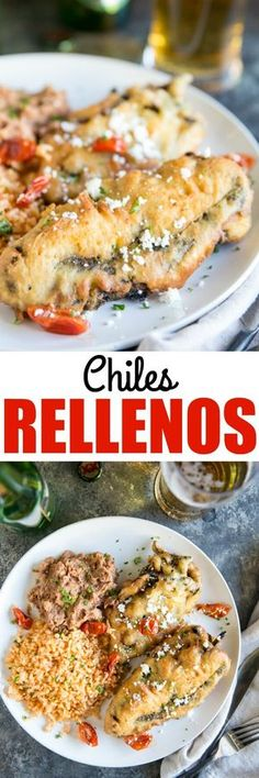 Roasted chiles stuffed with two kinds of cheese, then beer-battered and deep-fried! This tried-and-true reader Chile Relleno Recipe is worth the effort. via @culinaryhill