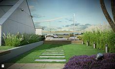 Zieleń na dachu - Ogród - Styl Minimalistyczny - EMSIDE Architektura Krajobrazu