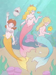 Peach, Daisy, Rosalina