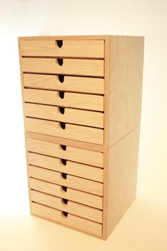 Chest Of Drawers (2 Sets Of 6 Drawers Stacked) Handmade 12 Drawer Wood Chest…