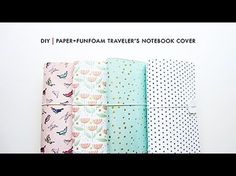 DIY | Paper + Funfoam Traveler's Notebook Cover - YouTube