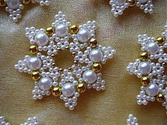 Buy or order Snowflakes from beads 'Snow White' in the online store at t.Beaded embroidery snowflakes Bordados a Mano – CreatividadClothes for girls, handmade. Snowflakes from beads Beaded Christmas Decorations, Snowflake Ornaments, Beaded Ornaments, Christmas Tree Ornaments, Christmas Crafts, Diy Ornaments, Felt Christmas, Homemade Christmas, Glass Ornaments