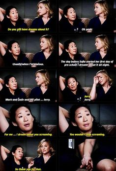 i am unbelievably grateful for this scene and the friendship/mutual respect Cristina and Arizona had for each other