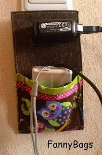 wool felt camera charging bag - I feel like this might be a fire hazard!