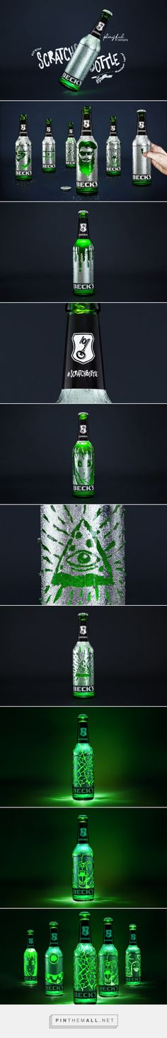 Be a party artist with Beck's Scratchbottle! Designed by BBDO Germany​ - http://www.packagingoftheworld.com/2015/09/becks-scratchbottle-limited-edition.html