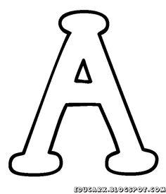 Molde da letra maiúscula A