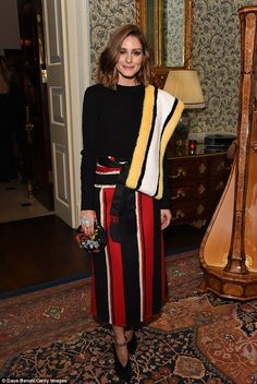 Style icon: Olivia Palermo looked as chic as ever as she hosted the Iris Alexander Fine Diamond Jewellery Collection Launch at The Ritz in London on Tuesday
