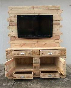 Entzuckend Einfache Schritte, Um Eine Hölzerne Holzfernsehkonsole Zu Machen