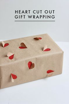 Heart Cut-out Gift Wrapping