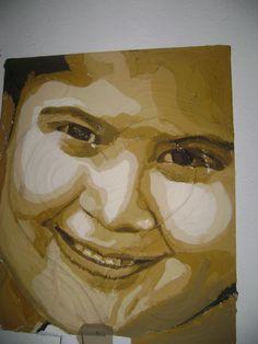 Vivian, Acrílico con textura sobre tela, Autor: José Luis Braojos