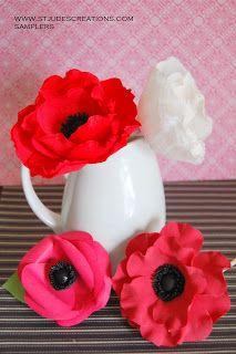 sampler for ashley red poppy paper wedding bouquet