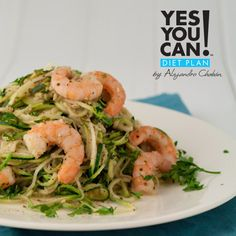 Zucchini Pasta - A healthy option for your Yes You Can! Diet Plan dinner