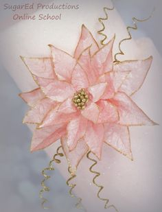 Wafer Paper Poinsettia and Sugared Tiers -Video at SugarEd Productions