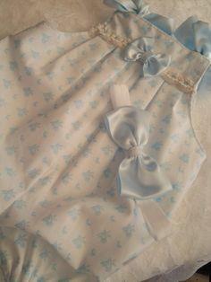 Azul Margarita mameluco las muchachas del bebé conjunto traje