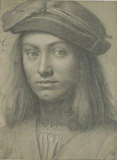 Giovanni Antonio Boltraffio (or Beltraffio) or 1467 – Musée du Louvre Renaissance Image, Italian Renaissance Art, Renaissance Portraits, Portrait Sketches, Portrait Art, Drawing Sketches, Art Drawings, Portrait Paintings, Silverpoint
