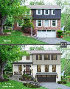 House Paint Exterior, Exterior House Colors, Exterior Design, Home Exterior Makeover, Exterior Remodel, Style At Home, Porch Decorating, Decorating Ideas, Decor Ideas