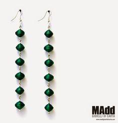 MAdd Gioielli di carta / MAdd Paper jewels: ORECCHINI DI CARTA LISCIA / FLAT PAPER EARRINGS